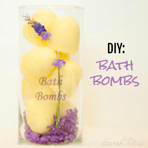 Essential Oil Fizzy Bath Bombs