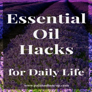 Quick and Easy Tips for using essential oils in your daily life. Essential Oil Hacks. www.paintedteacup.com