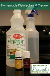 Homemade Disinfectant & Cleaner using essential oils