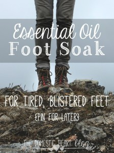 DIY Essential Oil Foot Soak