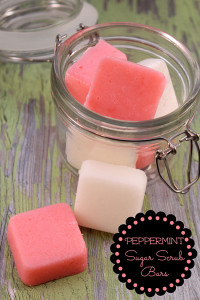 DIY Peppermint Essential Oil Sugar Scrub Bars