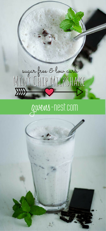 Thin Mint Chocolate Milkshake with Essential Oils