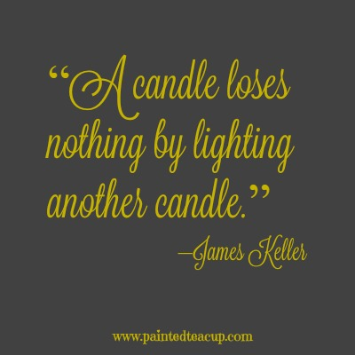 "8 beautiful quotes to celebrate world kindness day. ""A candle loses nothing by lighting another candle."" –James Keller"