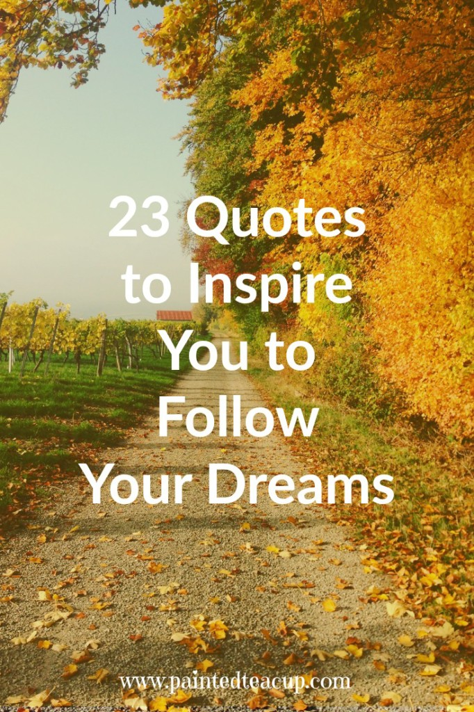 23 Quotes to Inspire You to Follow Your Dreams. What is stopping you from chasing your dreams? This post is filled with 23 inspirational dream quotes to encourage you to follow your dreams!