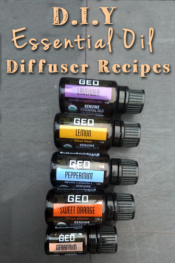 Using GEO essential oils in DIY essential oil diffuser recipes. www.paintedteacup.com
