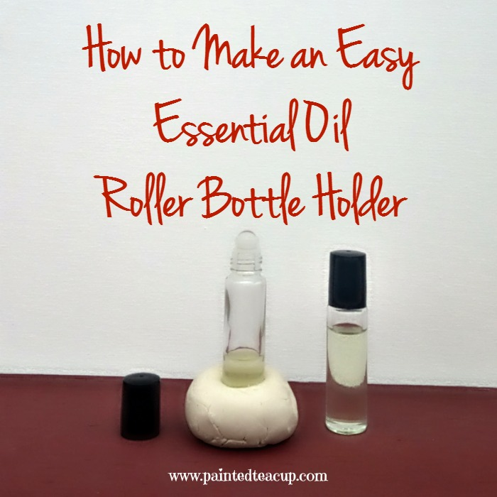 Make an easy diy essential oil holder so that none of your essential oils spill! How to Make an Easy Essential Oil Roller Bottle Holder. www.paintedteacup.com