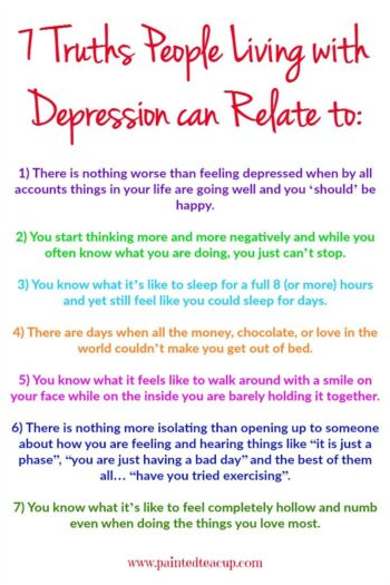 If you are living with depression these words will be very true for you. Remember you are not alone! This post also includes a agreat resource to help you feel like yourself again!