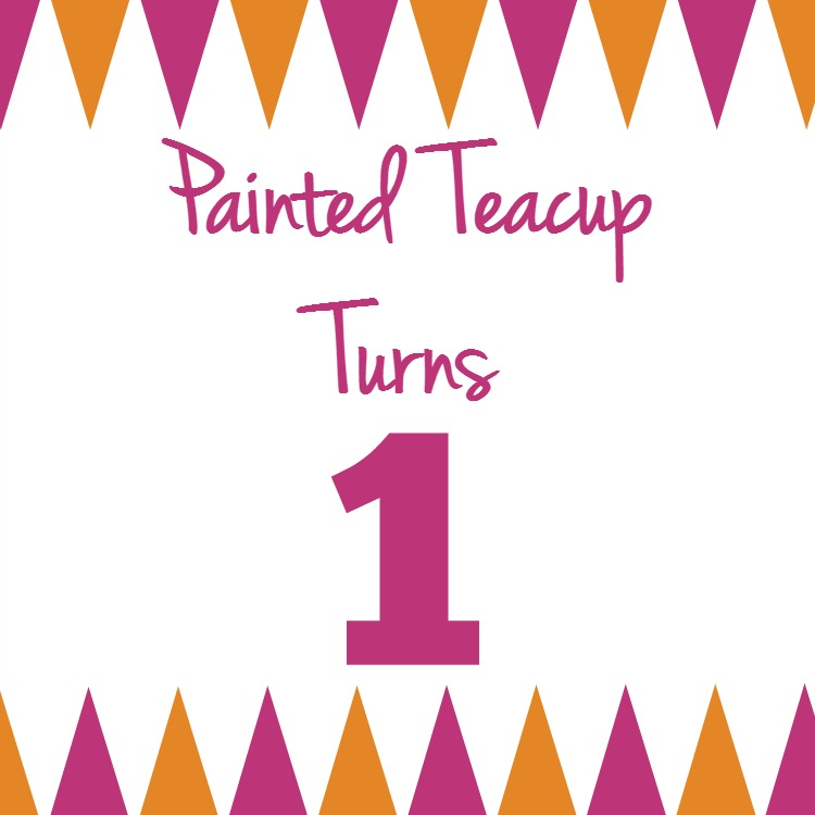 Painted Teacup Turns 1 today! Plus exiting essential oil ebook launch