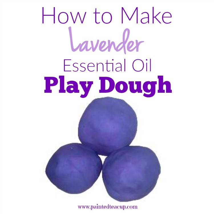 How to Make Lavender Essential Oil Play Dough. Easy play dough recipe for relaxation.