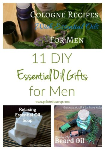 These essential oil gifts for men are super easy gift ideas to make for birthdays, Father's Day, Valentines Day, Christmas and more!