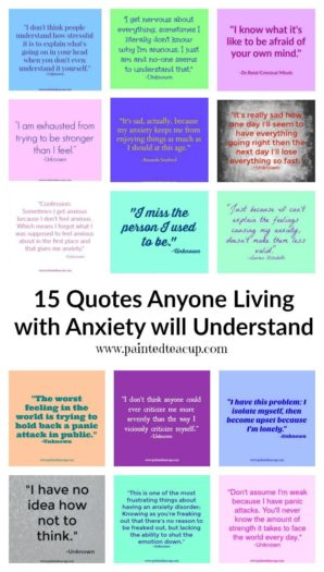 Are you living/struggling with anxiety? If so these anxiety quotes are just what you need to help you feel understood and less alone!