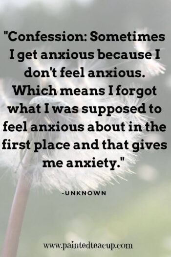 """This is one of the most frustrating things about having an anxiety disorder; Knowing as you're freaking out that there's no reason to be freaked out, but lacking the ability to shut the emotion down."" -Unknown"