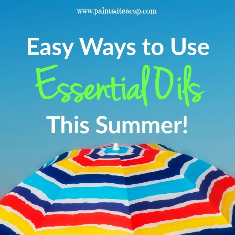 Easy Ways to Use Essential Oils This Summer! Bug spray, sunscreen, itch stick, sun burn spray, essential oils for camping & more!