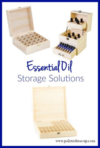 Essential oil storage boxes to help keep your essential oil collection organized! Click to see more great ideas for essential oil supplies and accessories!