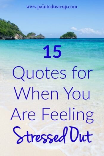 Are you feeling stressed out, overwhelmed, or frustrated? Try reading these 15 stressed out quotes to help you feel better when you are feeling stressed!