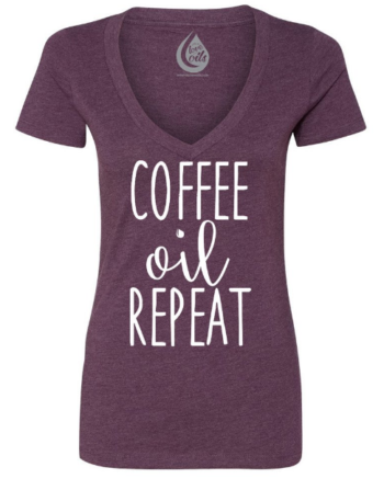 Coffee Oil Repeat! Awesome essential oil tshirt! Save 10% by using coupon code TEACUP10 at the checkout!