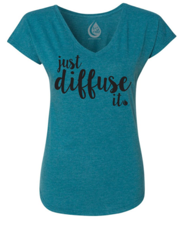 I love the colour of this just diffuse it tshirt! Save 10% by using coupon code TEACUP10 at checkout!