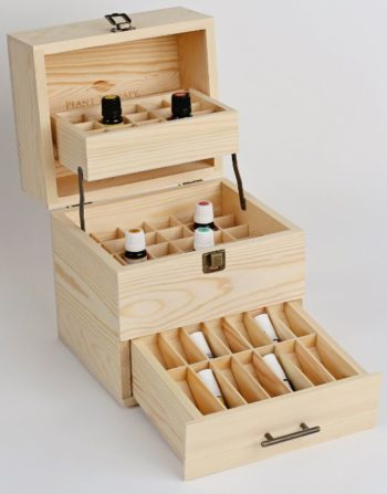 Wooden essential oil storage box! This box holds regular bottles as well as roller bottles and is 35% off! Click the image to see this and other great deals!