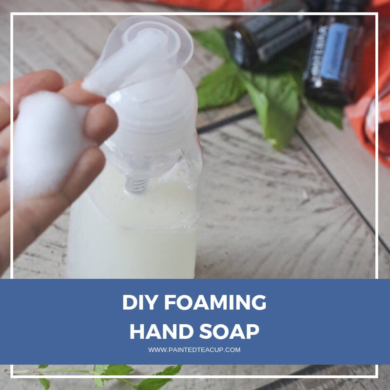 Make your own essential oil foaming hand soap! This DIY recipe is all-natural, easy to make and very frugal! A must have in every chemical free bathroom!