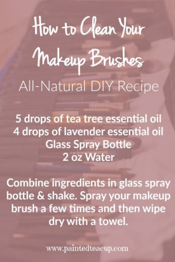 Learn How to Clean Makeup Brushes with easy diy all natural recipes using essential oils. Click for more great recipes!