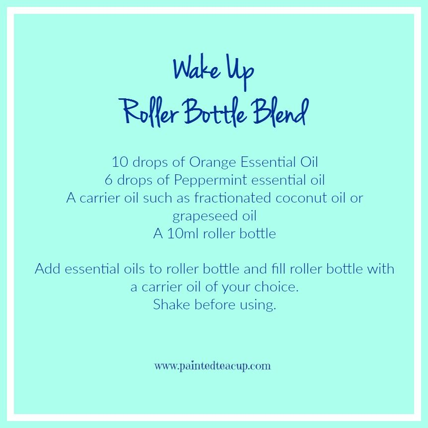Wake Up Roller Bottle Blend to improve mental focus using essential oils