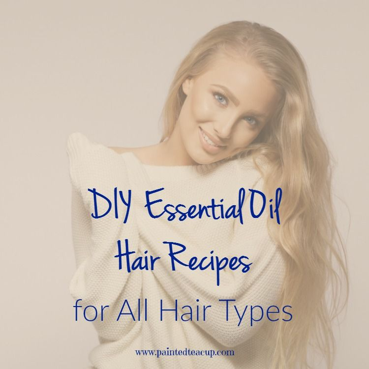 Easy All natural DIY essential oil hair recipes for every hair type including hair that id naturally dry & oily. You will also find DIY recipes for hair growth, shampoo, conditioner, detangler spray, hair masks and more!