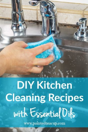 Are looking for all-natural cleaning solutions for your home? This post shares easy DIY kitchen cleaning recipes with essential oils that you can make today