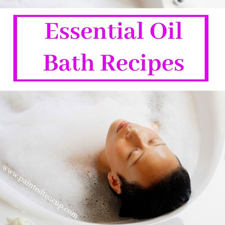 All-natural & affordable essential oil bath recipes to pamper yourself! You'll find recipes for bath bombs, bath salts & bubble bath made with essential oil