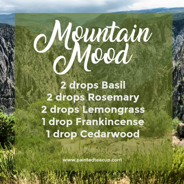 Mountain Mood Diffuser Blend | Fall Essential Oil Diffuser Blend | Basil, Rosemary, Lemongrass, Frankincense, Cedarwood essential oils