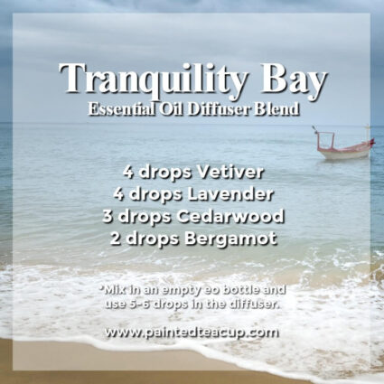 Tranquility Bay Diffuser Blend - Wonderful bergamot diffuser blends to inspire joy and hope. These recipes combine bergamot essential oil with other essential oils to help lift your mood! #diffuserblends #essentialoils #bergamot #bergamotessentialoil #diffuserrecipe