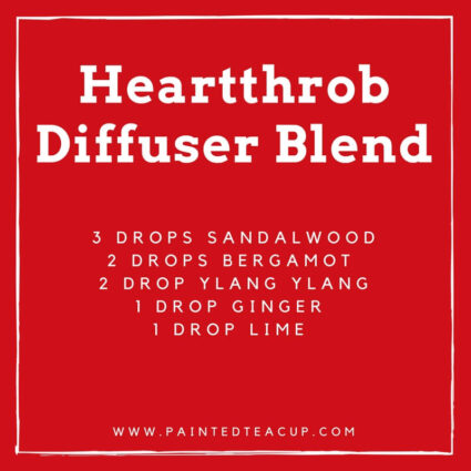 5 great ylang ylang diffuser blends to help capture, support and instill hopeful feelings of joy and happiness so you can experience love all year long! #diffuserblend #ylangylang #essentialoils #romanticdiffuserblend #valentinesday