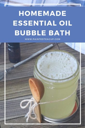 You will love this homemade essential oil bubble bath using ylang ylang essential oil! It's easy to make, super relaxing & makes your skin silky smooth! #bubblebath #homemadebubblebath #ylangylangessentialoil #diygift #essentialoildiy #diyrecipe