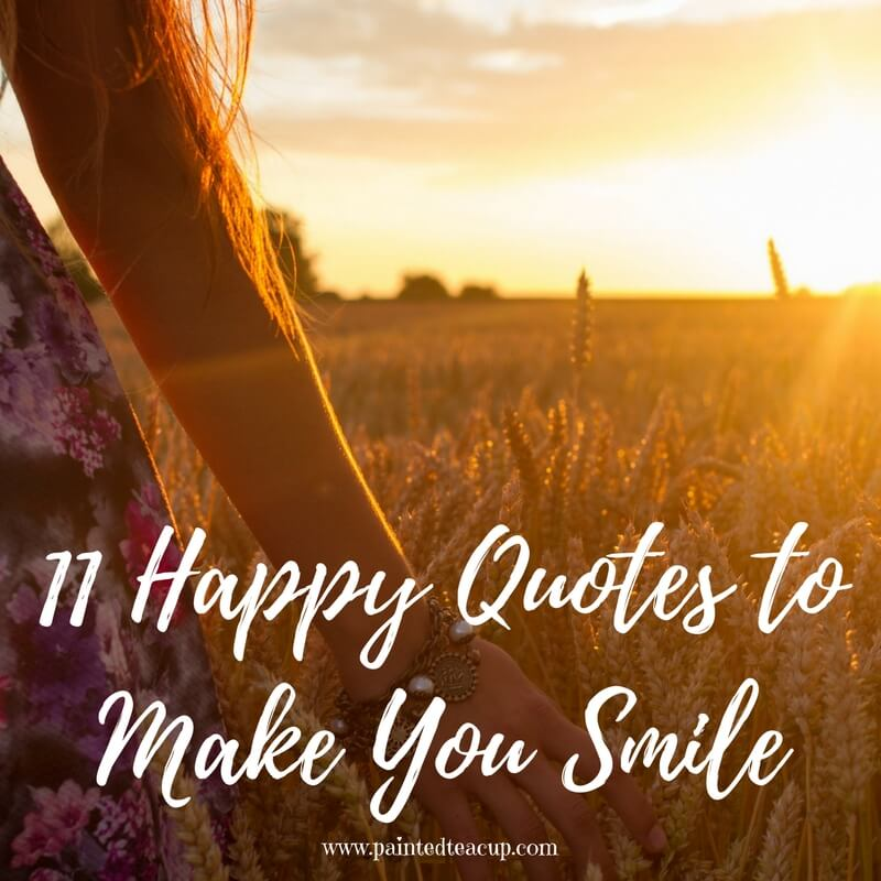 Some days life can get you down and we need a reason to smile. Here are 11 Happy and Positive quotes to give you a boost on tough days.