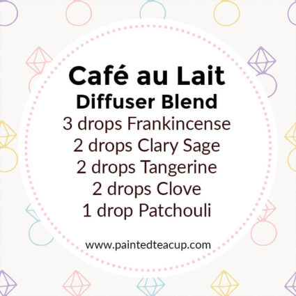 Cafe au Last Diffuser Blend, If you LOVE frankincense essential oil then I have you covered! Here are 25 amazing frankincense diffuser blends to make your home smell wonderful!