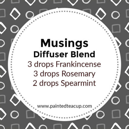 Musings Diffuser Blend, If you LOVE frankincense essential oil then I have you covered! Here are 25 amazing frankincense diffuser blends to make your home smell wonderful!