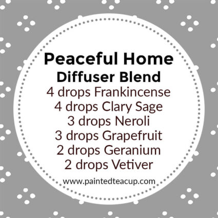 Peaceful Home Diffuser Blend, If you LOVE frankincense essential oil then I have you covered! Here are 25 amazing frankincense diffuser blends to make your home smell wonderful!