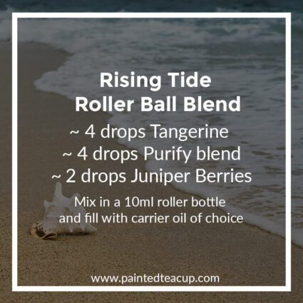 Rising Tide Roller Ball Blend, Heading to the beach this summer? Here are 10 amazing essential oil roller ball blends that you want to pack with you! They are easy & affordable to make!