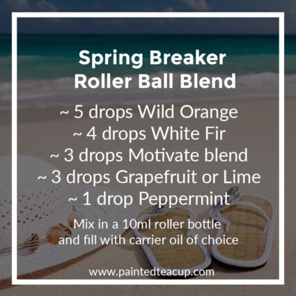 Spring Breaker Roller Ball Blend, Heading to the beach this summer? Here are 10 amazing essential oil roller ball blends that you want to pack with you! They are easy & affordable to make!