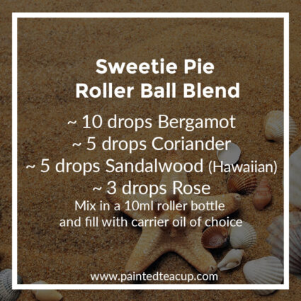 Sweetie Pie Roller Ball Blend, Heading to the beach this summer? Here are 10 amazing essential oil roller ball blends that you want to pack with you! They are easy & affordable to make!