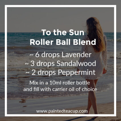 To the Sun Roller Ball Blend, Heading to the beach this summer? Here are 10 amazing essential oil roller ball blends that you want to pack with you! They are easy & affordable to make!