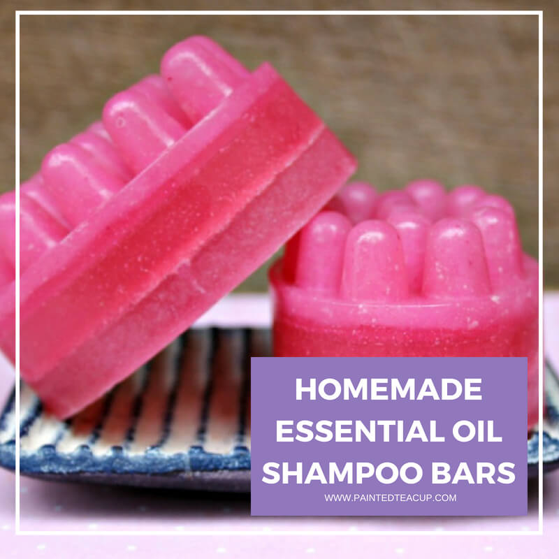 Making your own shampoo bars helps to cut down on plastic plus you are using real all natural ingredients! Add essential oils for even more benefits! #essentialoils #shampoobar #homemadeshampoo #diyshampoo #diyshampoobar