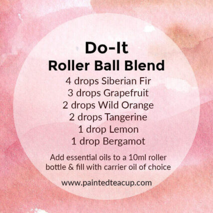 Essential oils are a great natural pick-me-up when you are feeling fatigued and low on energy! These roller bottle blends for energy are just what you need! #essentialoils #rollerbottleblend #rollerballblend #makeandtake #essentialoilsforenergy