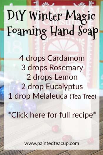 Forget expensive store-bought holiday hand soaps! Make your own all-natural holiday scented foaming handsoap recipes at home! #essentialoil #essentialoildiy #foaminghandsoap #diyhandsoap #holidayhandsoap #holidaysoap #christmassoap #christmasdiy