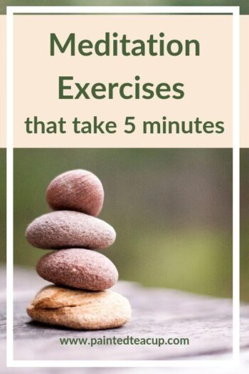 Meditation is great for mental health and reducing stress. Here are 4 easy and effective meditation exercises that you can do in as little as 5 minutes! #meditation #easymeditation #mentalhealth